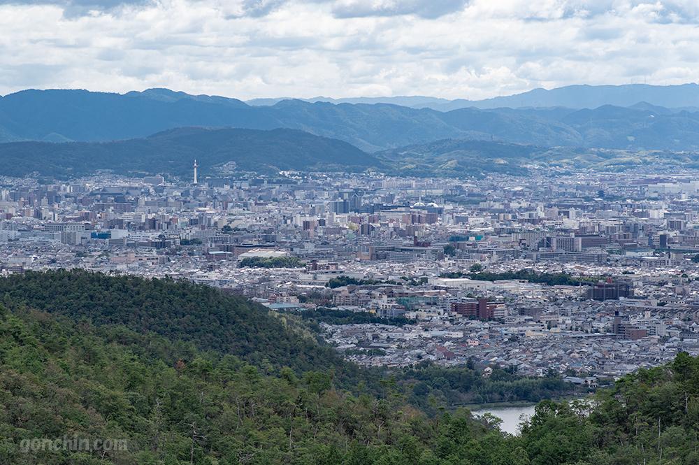 京都の街を見下ろした写真