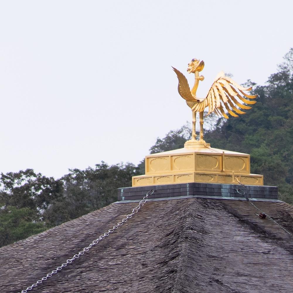 金閣寺の舎利殿の拡大写真