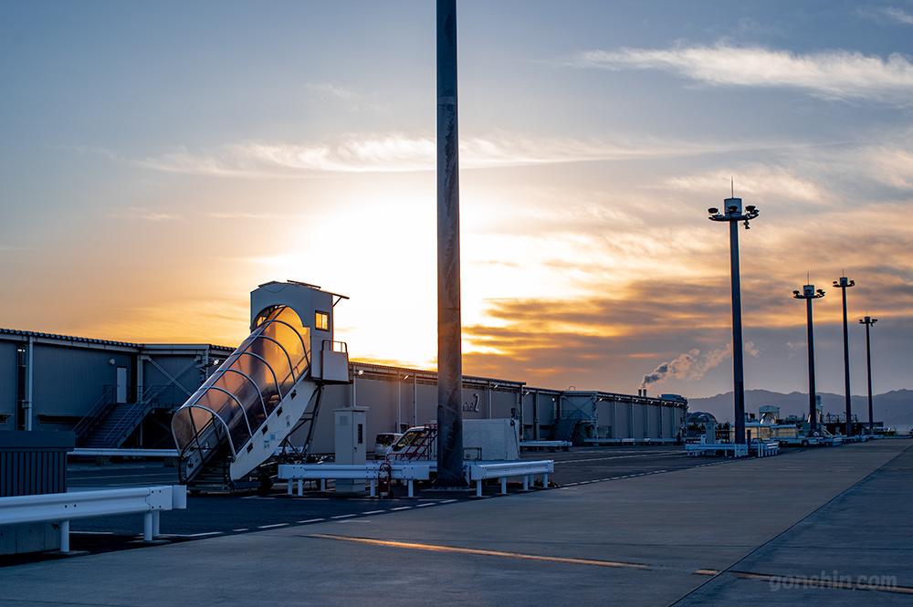 関西空港の朝焼け
