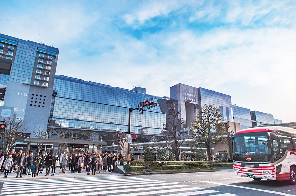 京都駅の七条口・外観